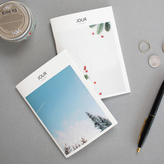 Jour A6 size undated daily planner