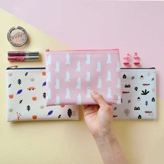 In the zoo slim zippered pocket pouch