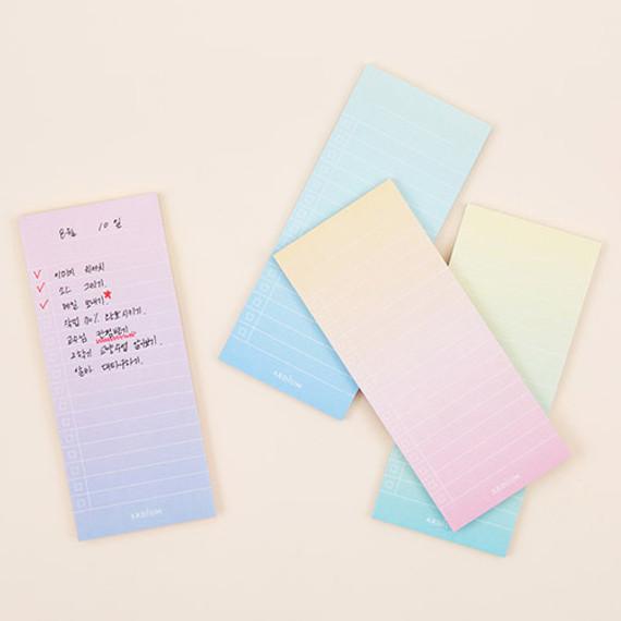 Colorful gradation checklist sticky notes