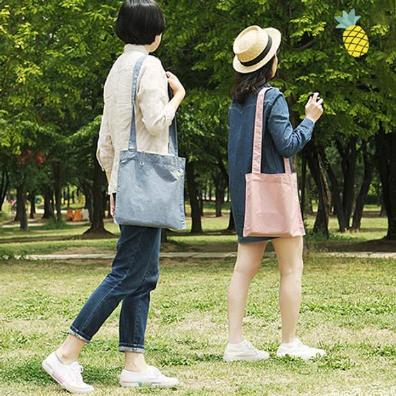 Tropical travel cotton shoulder bag