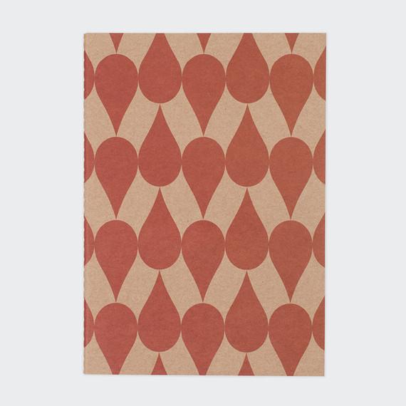Vintage pattern sewn bound A5 plain notebook B