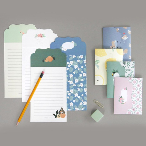 From letter paper and envelope set