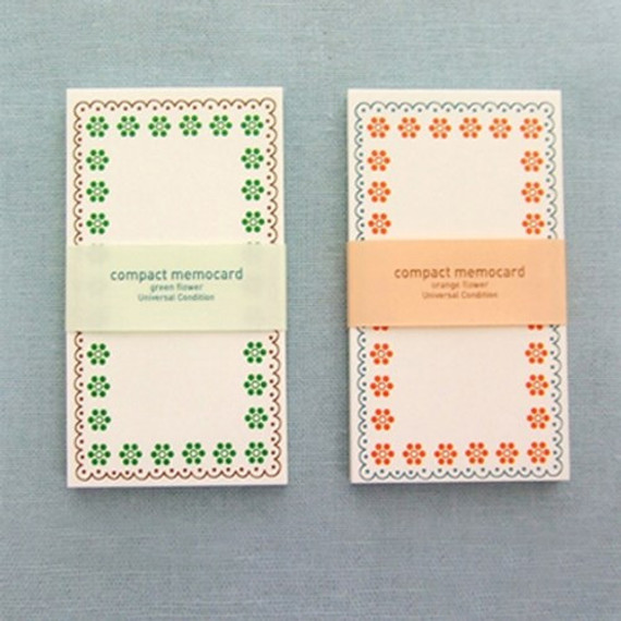 Compact memo note card
