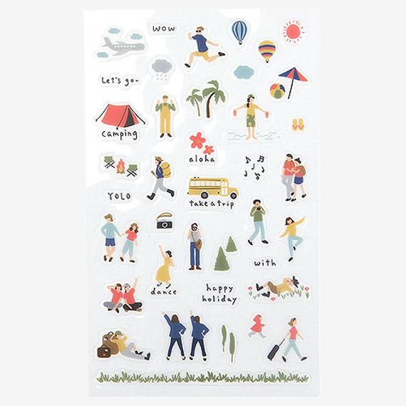 Daily transparent sticker - Travel