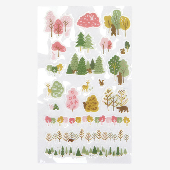 Daily transparent sticker - Forest