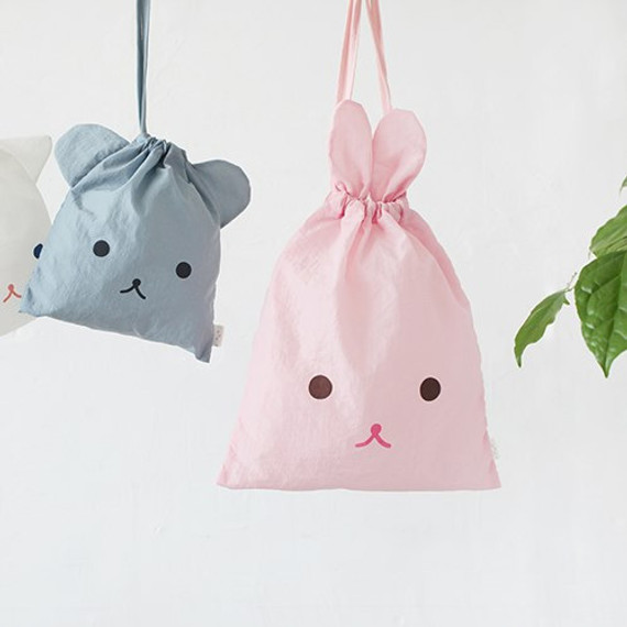 Popuree water resistant large drawstring pouch