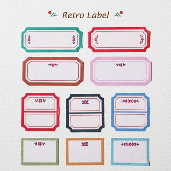 Retro Label deco paper sticker