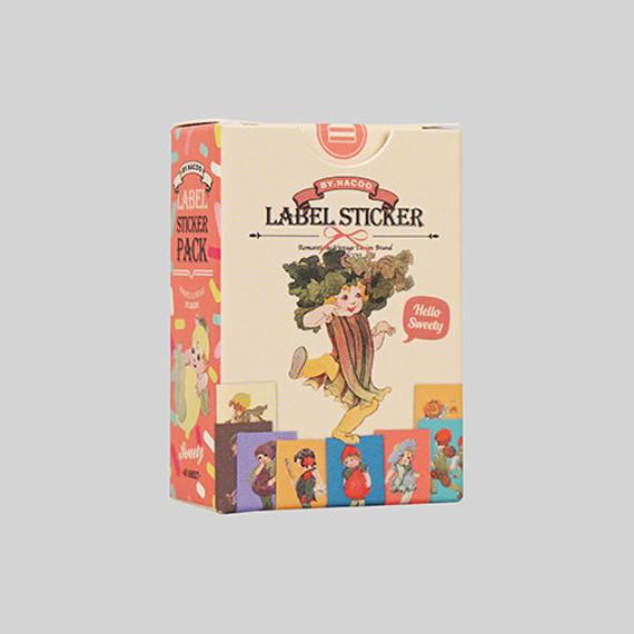 Sweety label paper sticker set
