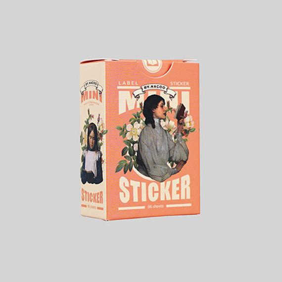 Reading small label sticker set