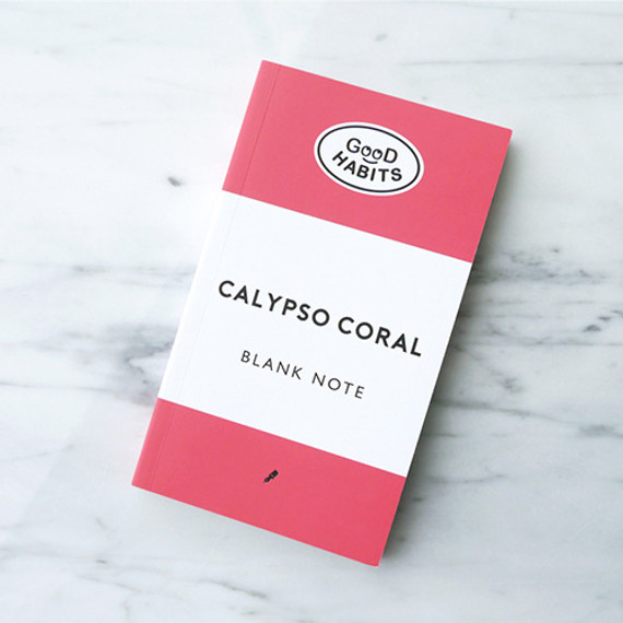 Good habits Calypso coral plain notebook