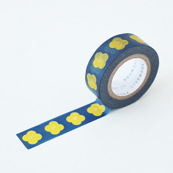 "Som Som wind mill 0.59""X11yd single deco masking tape"