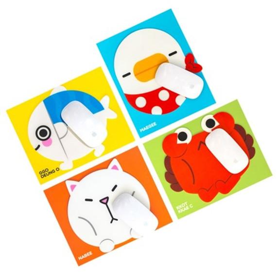 Ggo deung o friends mouse pad