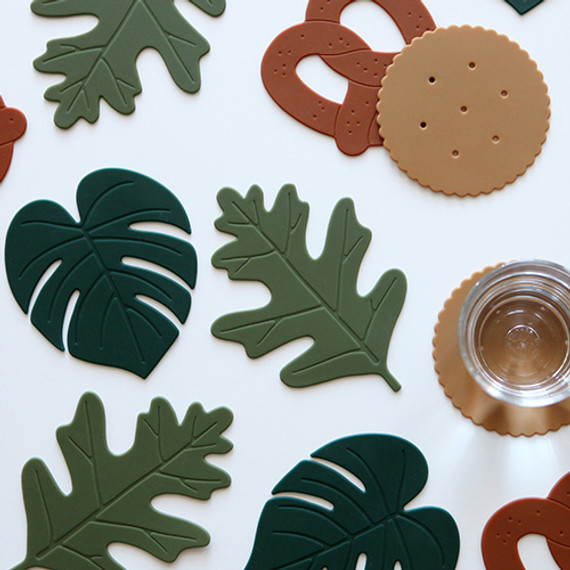 Dailylike Enjoy your kitchen silicon drink coaster set
