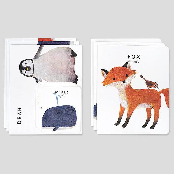 Nacoo Animal illustration card set ver1