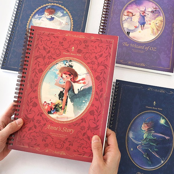 Classic story spiral bound lined notebook
