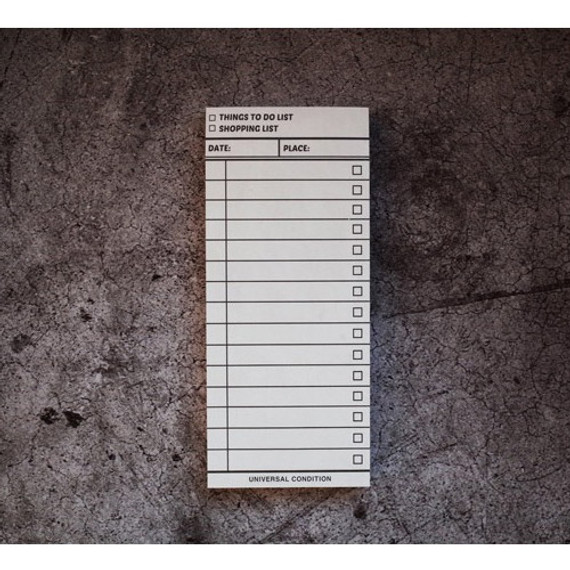Universal condition Vintage small to do list shopping checklist notepad