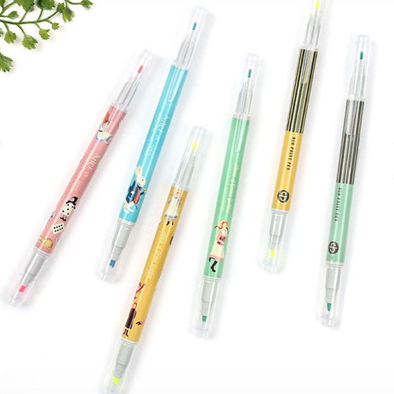 Bookfriends World literature double ended highlighter chisel/fine point set