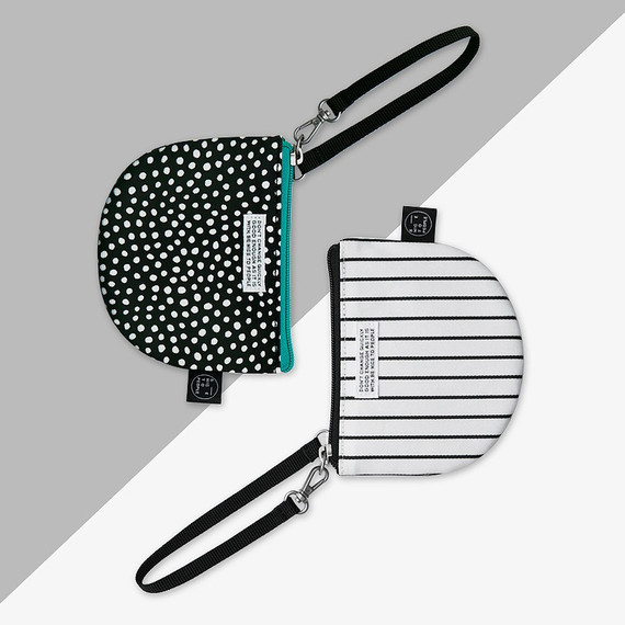 BNTP Semicircle small zipper pouch with strap