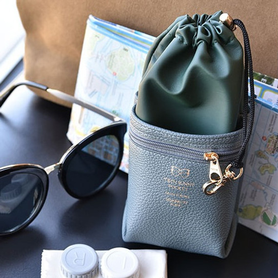 Sunny twin glasses pocket drawstring pouch