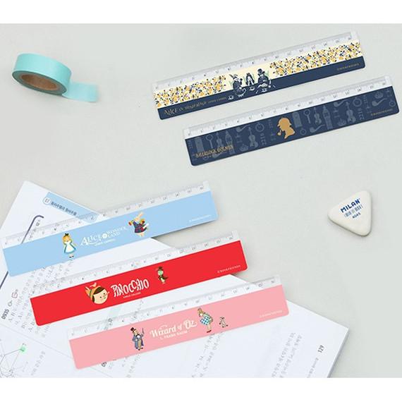 World literature 6 inches plastic ruler