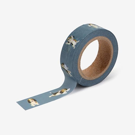"Dailylike Deco 0.59""X11yd single masking tape - Beagle"