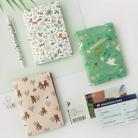 Indigo Willow pattern passport cover case holder