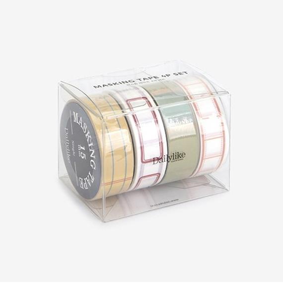 Dailylike Memo deco masking tape set of 4