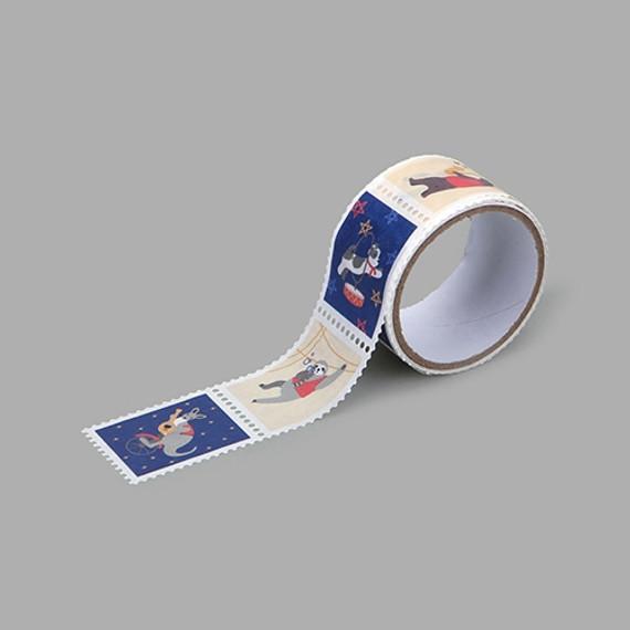 Dailylike Animal musicians deco single stamp masking tape
