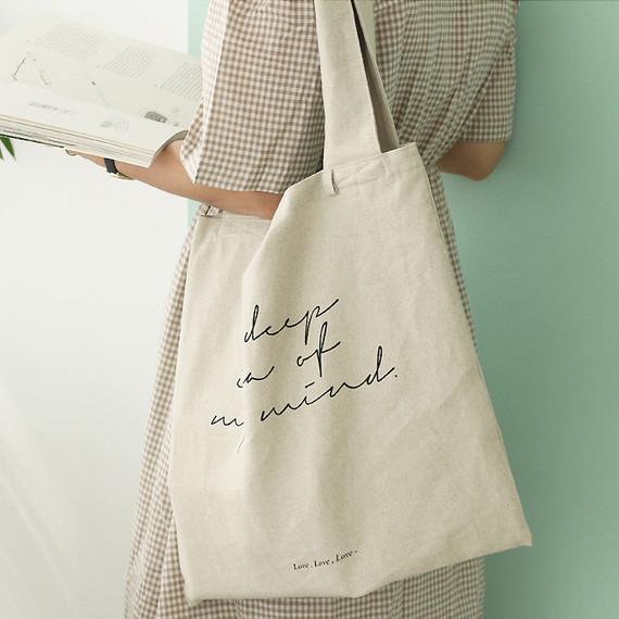 Mind linen fabric daily shoulder bag