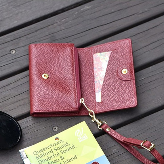 Allday genuine cowhide leather card wallet