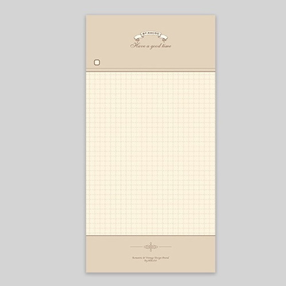 NACOO Have a good time grid notepad