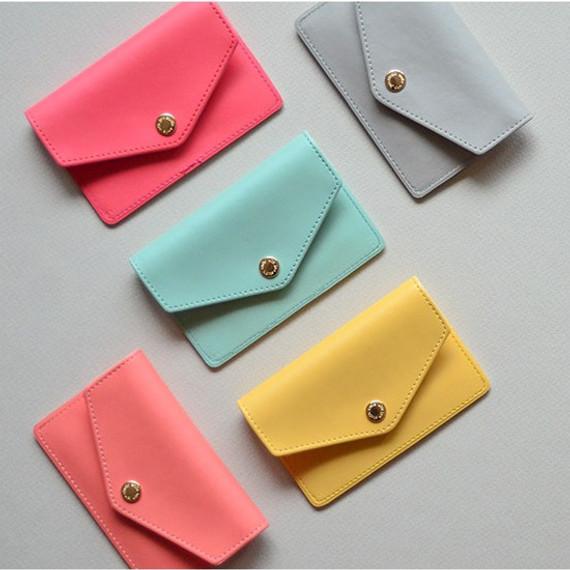 Jam studio Lovelyborn synthetic leather card case holder
