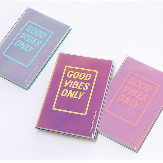 Paperian Good vibe only undated weekly planner