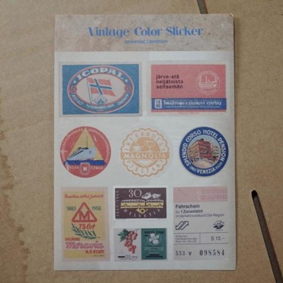 Vintage color deco sticker