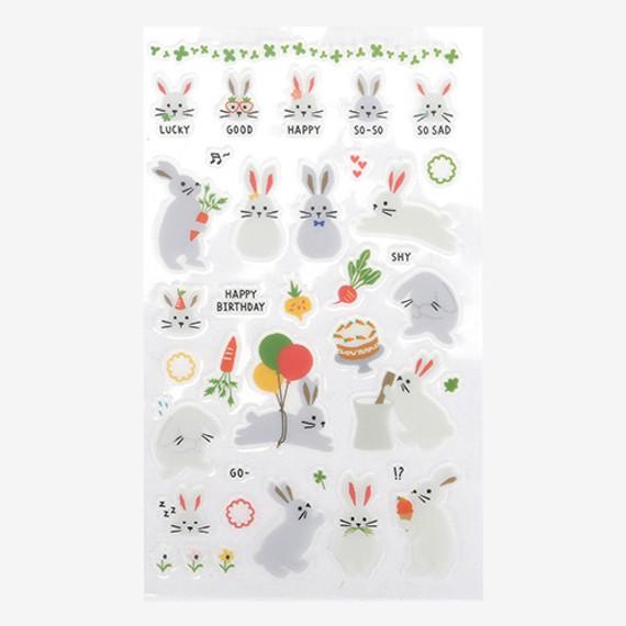 Daily transparent sticker - Rabbit