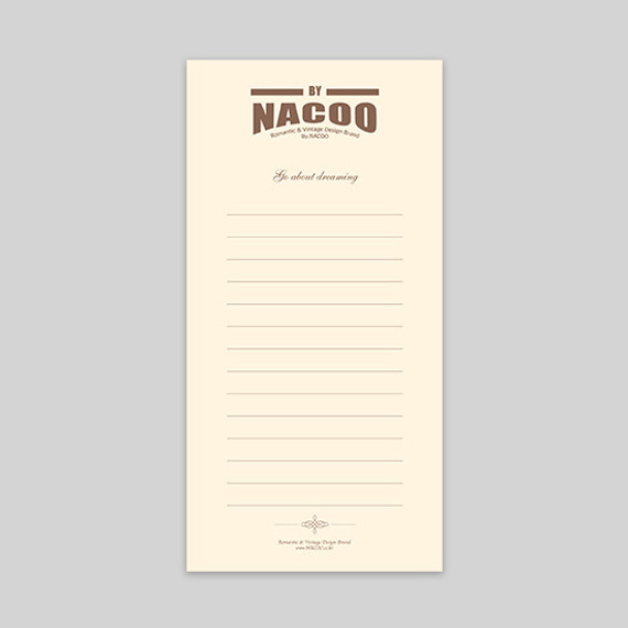 By nacoo dreaming simple lined notepad