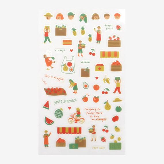 Daily transparent sticker - Fruits store