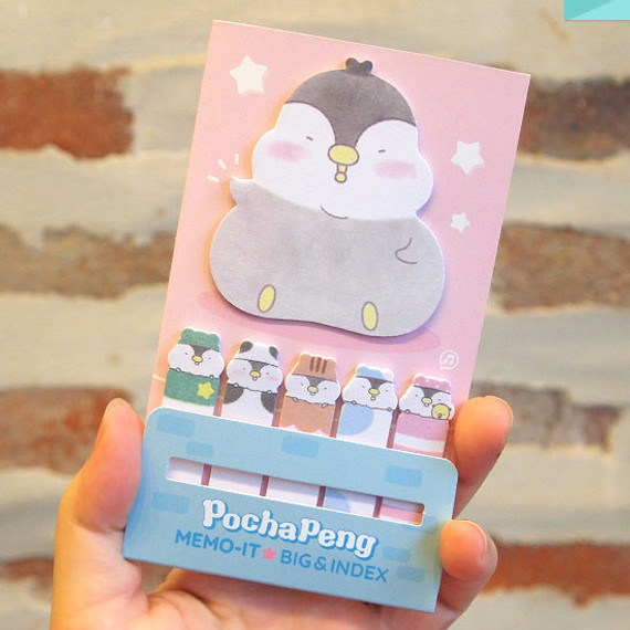 Pochapeng sticky bookmark memo notepad set