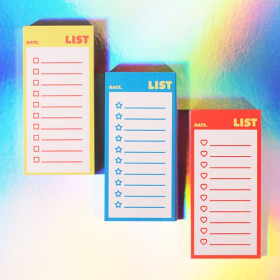 Lucalab Neon small checklist memo notepad