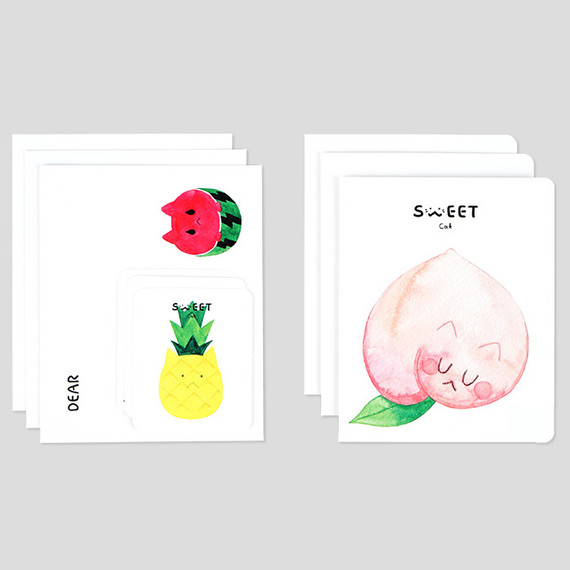 NACOO Sweet cat illustration card set ver1