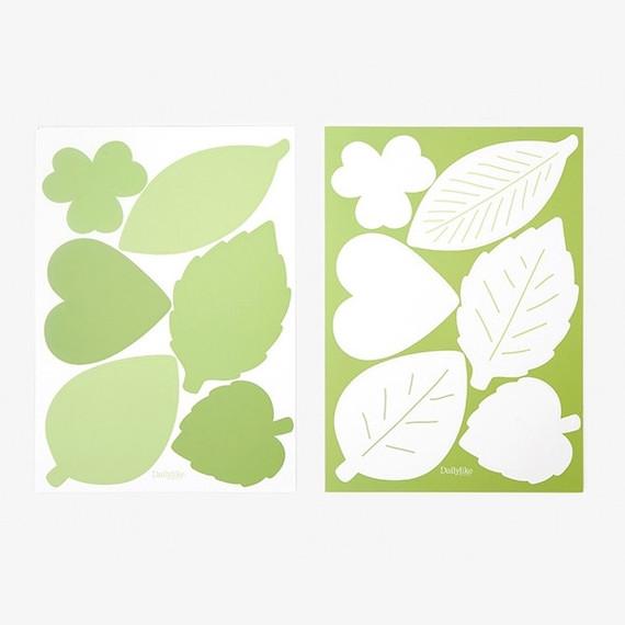 Dailylike Leaf name tag label sticker set