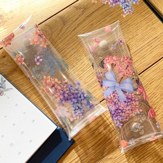 N.IVY Moons friends flower clear folding pencil case