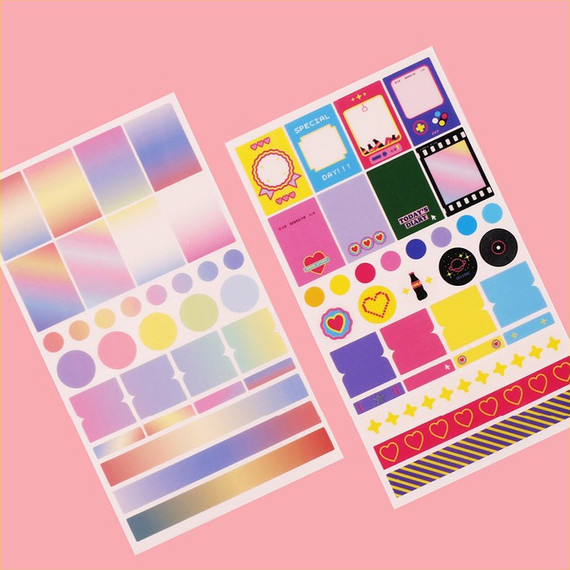 After The Rain Deco sticker set for a monthly planner