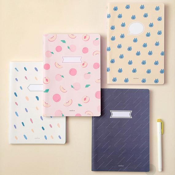 Ardium Soft pattern large lined school notebook