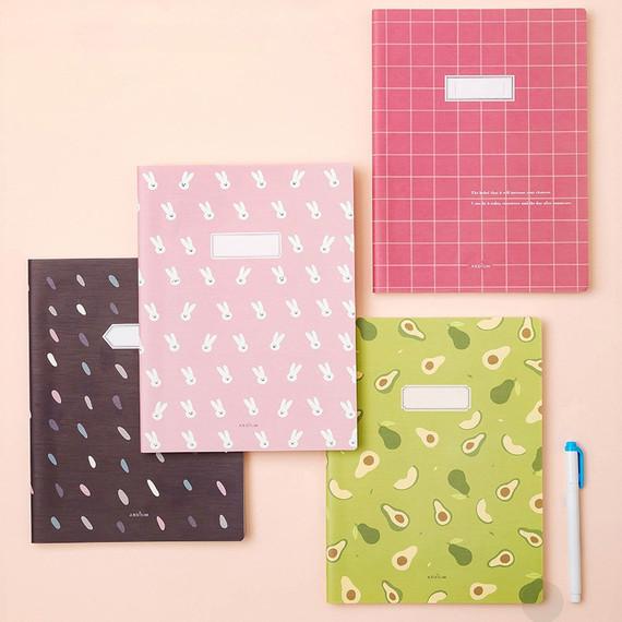 Ardium Soft pattern extra large lined school notebook
