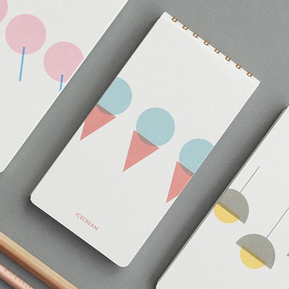 designlab kki Combination spiral small lined blank notebook