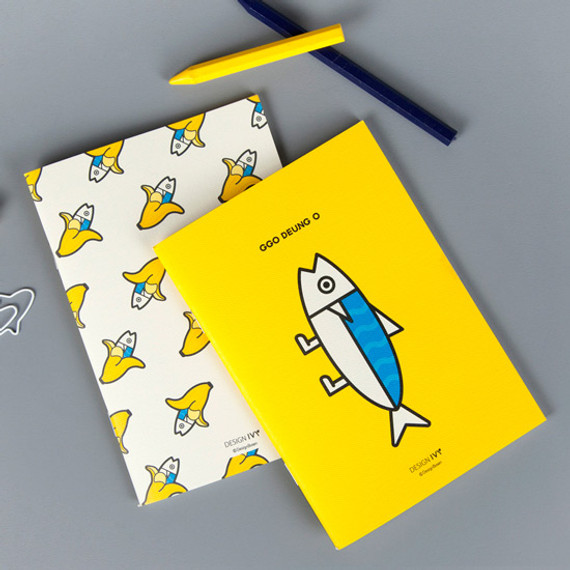 Ggo deung o small grid and lined notebook