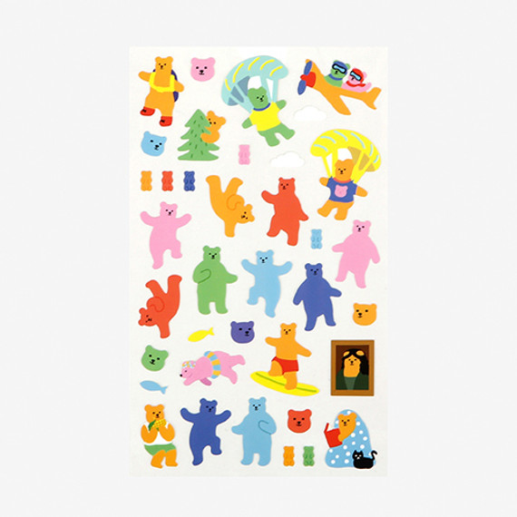 Dailylike For your heart paper adhesive sticker - Jelly bear