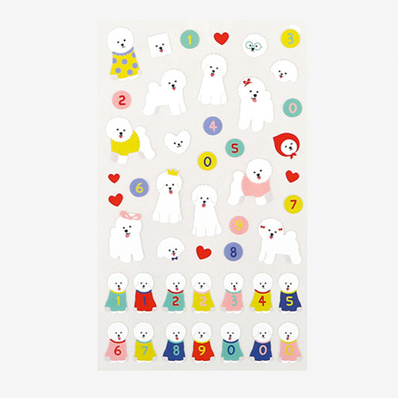 Dailylike For your heart paper adhesive sticker - Bichon Frise