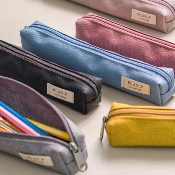 Byfulldesign Oxford single zipper pencil case pouch ver4